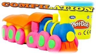 getlinkyoutube.com-Play Doh Train COMPILATION We Make from PlayDough Thomas and Friends Toys Trains for Children
