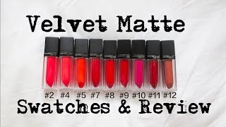 getlinkyoutube.com-『試色』Maybelline 2015奢漾絲絨唇萃試色 l Velvet Matte Review&Swatches