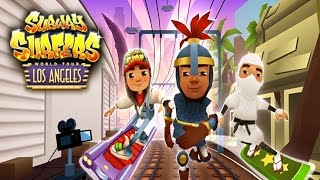 getlinkyoutube.com-Subway Surfers: Los Angeles - Sony Xperia Z2 Gameplay