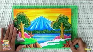 getlinkyoutube.com-Tutorial Mewarnai Pemandangan Alam dengan Krayon (Oil Pastel)