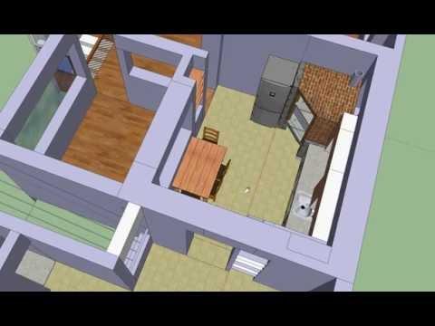 Uzb house kitchen bathroom proposal