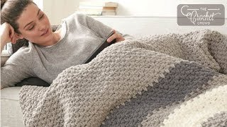 getlinkyoutube.com-How to Crochet A Blanket: Hibernate Blanket