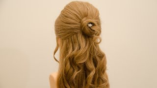 getlinkyoutube.com-تسريحة شعر للمناسبات و الاعراس ( تسريحة الكيرلي الرومانسيه )
