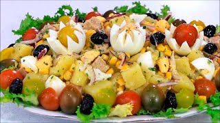 getlinkyoutube.com-سلطة البطاطس وجبة اقتصادية متكاملة الشيف نادية |  Salade de pommes de terre