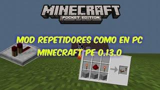 getlinkyoutube.com-Mod de repetidores como en pc!Minecraft pe 0.13.0