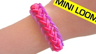 Mermaid Braid Rainbow Loom Bracelet using  Mini Loom