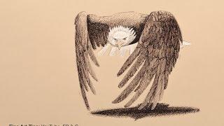 getlinkyoutube.com-How to Draw a Bald Eagle With Fountain Pen