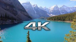 getlinkyoutube.com-Endless Looping 4K Scene: Moraine Lake, Banff Alberta + Nature Sounds Screensaver