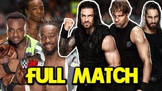 WWE Survivor Series 2017 - The Shield vs. The New Day (FULL MATCH Simulation)