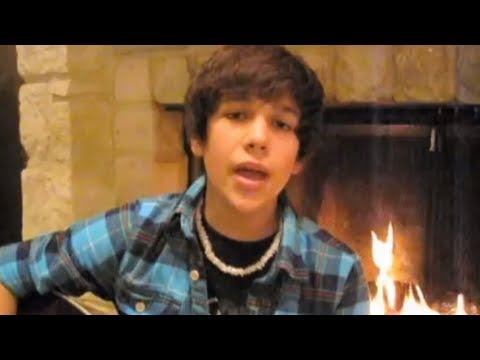 &quot;Baby&quot; Justin Bieber cover - 14 year old Austin Mahone with lyrics