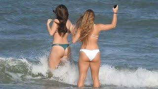 getlinkyoutube.com-Nikon Coolpix P900   Beach Girls and Cruise Ship Zoom Shots