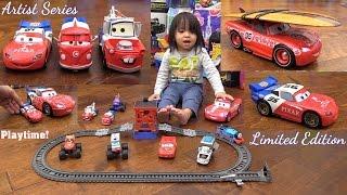 getlinkyoutube.com-Disney Cars Lightning McQueen, Mater and Fillmore Artist Series, Thomas the Tank Engine and RC Tank