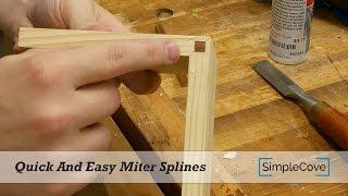 Quick And Easy Miter Splines