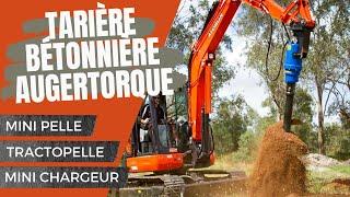 getlinkyoutube.com-Tariere betonniere auger torque minipelle tractopelle minichargeur