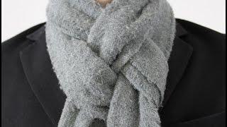 getlinkyoutube.com-How To Tie a Man's Scarf The Pretzel Knot