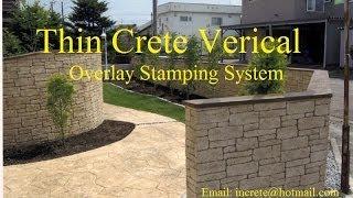 getlinkyoutube.com-Thin Crete Vertical Overlay System