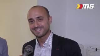 Giorgio Muscolino alla presentazione del Team Volley Messina