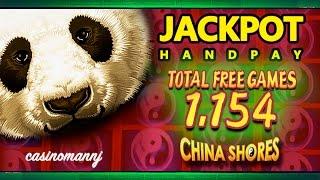 getlinkyoutube.com-*JACKPOT HANDPAY* - CHINA SHORES SLOT - 1,154 FREE SPINS! - MEGA HUGE WIN! - Slot Machine Bonus