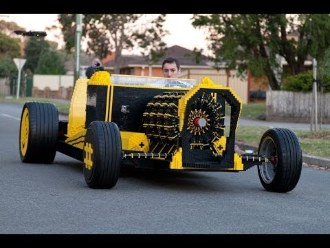 Life Size Lego Car Powered by Air