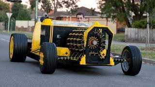 getlinkyoutube.com-Life Size Lego Car Powered by Air
