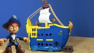 getlinkyoutube.com-Jake und die Nimmerland Piraten deutsch: Disney Piraten Magnus Colossus Piratenschiff Jake Spielzeug