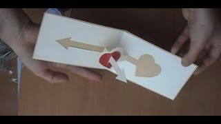 getlinkyoutube.com-Valentine's Day Pop Up Card Tutorial: 3D Arrow In Heart