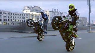getlinkyoutube.com-Motorcycle Stunts in  Streets