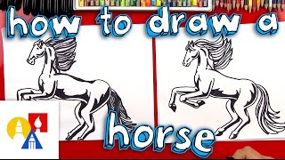 getlinkyoutube.com-How To Draw A Realistic Horse (Part 1)