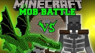 getlinkyoutube.com-Mutant Skeleton Vs. Green Dragon - Minecraft Mob Battles - Mutant Creatures Mod Battle