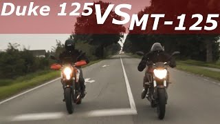 "getlinkyoutube.com-Yamaha MT-125 VS. KTM DUKE125 - ""DAS Rennen"" | YoungRider125cc"