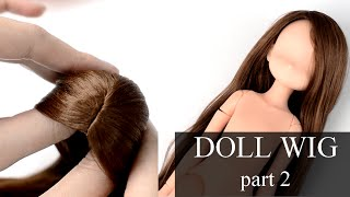 getlinkyoutube.com-self-adhesive DOLL WIG TUTORIAL - part 2 - GLUING THE HAIR