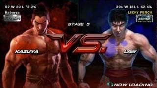 getlinkyoutube.com-Tekken 6 PSP - Kazuya Mishima Playthrough