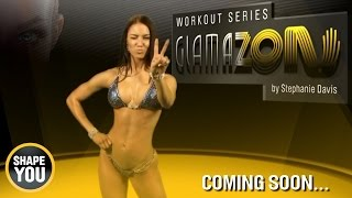 getlinkyoutube.com-Stephanie Davis - Trailer GLAMAZON workout series - coming soon