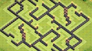 Clash Of Clans | Best Th9 Farming Base - The Death Maze-