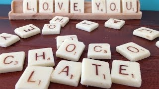Chocolate Scrabble How To Cook That Ann Reardon Valentines Gift Ideas