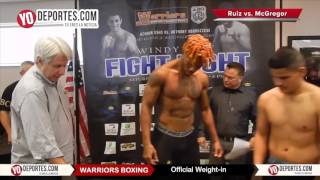 Warriors Boxing weight in Friday January 20