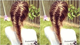 getlinkyoutube.com-How to :  French Fishtail Braid for Beginners | Braidsandstyles12