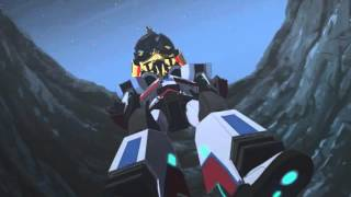 getlinkyoutube.com-Transformers Robots in Disguise Jazz and Sideswipe vs Ped (Round 2)