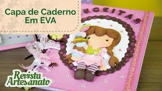 Capa de Caderno em EVA 3D - Passo a Passo