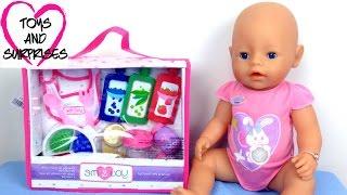 getlinkyoutube.com-Видео с Куклой Пупсик Baby Born набор еды игрушки для девочек играем в дочки матери Baby Doll