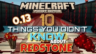 getlinkyoutube.com-✔️{REDSTONE} 10 THINGS YOU MAYBE DIDN'T KNOW (MCPE 0.13) | Minecraft Pocket Edition