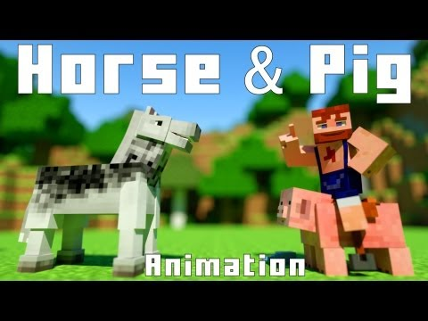 Horse & Pig - Minecraft Animation