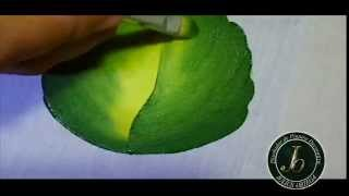 getlinkyoutube.com-Como pintar hojas en Tela - Folhas-  How to paint leaf -Fabric painting