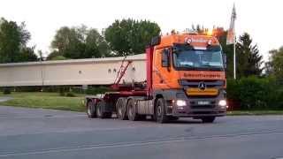 getlinkyoutube.com-6 Scheder Schwertransporte BFE Erfurt 40m Betonbinder