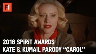 getlinkyoutube.com-CAROL parody - Kate McKinnon & Kumail Nanjiani | 2016 Film Independent Spirit Awards