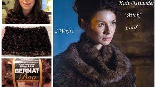 "getlinkyoutube.com-Knitting a ""Mink"" Inspired Outlander Snood/ Cowl"