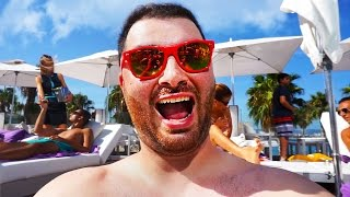getlinkyoutube.com-Hike Goes to Barcelona!! Getting A Haircut & Private Cabana at The W Hotel! Hike In Real Life VLOG