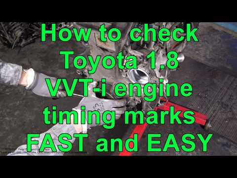 How to check Toyota 1.8 VVT-i engine timing marks FAST and EASY way