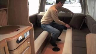 getlinkyoutube.com-レクビィ製キャンピングカー「ハイエースプラスLV」ベッドメイク 2011