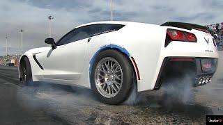 2014 Corvette C7 vs Dodge Viper - 1/4 Mile Drag Race Video - Road Test TV